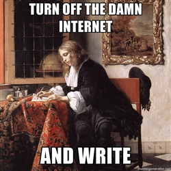turn off internet and write