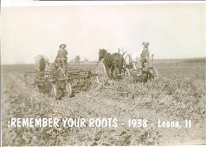 mom age 11 in fields