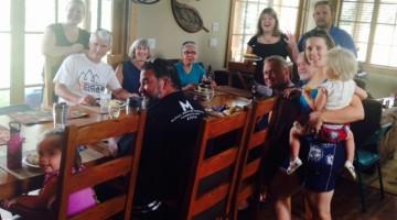 family dinner cabin 14