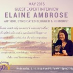 "Online Laughter Interview Wednesday on ""Flourishing 50s"""
