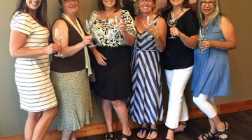 Pictured from left, Christy Hovey, Sarah Tregay, Mary McFarland, Amy Davis, Elaine Ambrose, and Ophelia Ramirez